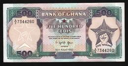 Ghana 500 Cedis 1993 (VF+) P-28c.3 - Ghana