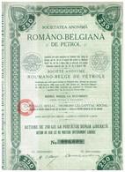 Ancienne Action - Romano Belgiana De Petrol - Roumano Belge De - Titre De 1908 - N°006.608 - Pétrole