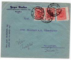 1929 YUGOSLAVIA, SERBIA, SOMBOR TO WEINFELDEN, SWITZERLAND, COMPANY COVER, FLAM - Covers & Documents