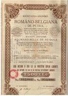 Ancienne Action - Romano Belgiana De Petrol - Roumano Belge De - Titre De 1908 - N°352981 à N° 352990 - Pétrole
