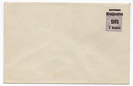 1919 KINGDOM OF SHS, YUGOSLAVIA, COVER, PRE PRINTED STAMP, POSTAL STATIONERY - Postal Stationery