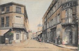 LE CHAMBON - Rue De L'Eglise (Edit Giroud Firminy) - Le Chambon Feugerolles