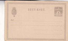 STATIONERY ENTIER DANMARK 3 ORE POSTFRIMAERKE UNUSED 1900'S - BLEUP - Entiers Postaux
