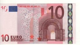 """10 EURO  """"U""""  France   Firma Trichet    L 028 A1   Ch. 71 /  FDS - UNC - 10 Euro"""