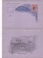 STATIONERY ENTIER CARTA BILHETE BRAZIL BRESIL 200 REIS 1900'S - BLEUP - Entiers Postaux