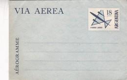 STATIONERY ENTIER AEROGRAMME 18 PESOS ARGENTINE 1960'S - BLEUP - Entiers Postaux