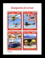 Guinea-Bissau 2019 Mih. 10623/26 Postal Transport. Drones. Plane. Bus. Bicycle MNH ** - Guinea-Bissau