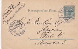 STATIONERY ENTIER 5 HELLER KAIS KONIGL CIRCULEE 1905 TO BERLIN - BLEUP - Germany