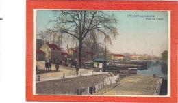 Chalon Sur Saône.Port Du Canal.Cheval.Linge étendu - Chalon Sur Saone