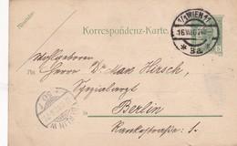 STATIONERY ENTIER 5 HELLER KAIS KONIGL CIRCULEE 1905 TO BERLIN - BLEUP - Stamped Stationery