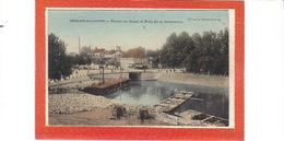Chalon Sur Saône.Bassin Du Canal Et Pont De La Colombière.Une Platte Et Chargement De Pierres - Chalon Sur Saone