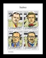Mozambique 2019 Mih. 10268/71 Chess. Alexander Alekhine. Paul Morphy. Ernst Grunfeld. Siegbert Tarrasch MNH ** - Mozambique