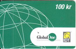 SWEDEN - Global One/IDT Prepaid Card 100 Kr, Exp.date 01/05, Used - Sweden