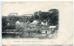 Colonies Françaises - MADAGASCAR Sainte Marie Les Casernes Et La Mission Catholique - Dos Simple - Madagascar