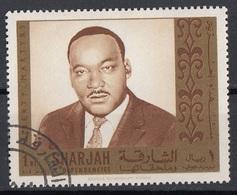 Sharjah 1968 Mi. 483 Martin Luther King Premio Nobel Pace Nuovo CTO - Premio Nobel