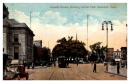 Connecticut Stamford , Atlantic Square ,Central Park , Trolley - United States