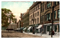 Connecticut Stamford , Atlantic Street Looking South , Trolley - United States