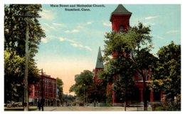 Connecticut Stamford ,Main Street And Methodist Church - United States