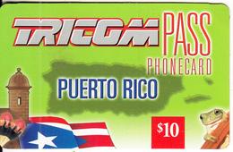 PUERTO RICO - Tricom Prepaid Card $10, Used - Puerto Rico