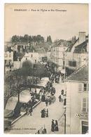 Charolles - Place De L'église Et Rue Champagny - Charolles