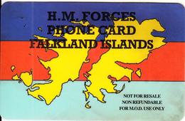FALKLAND ISL. - HM Forces, C & W Prepaid Card(for M.O.D. Use Only), Used - Falklandeilanden