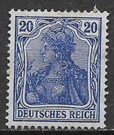GERMANIA REICH IMPERO 1905 FIGURA ALLEGORICA DELLA GERMANIA UNIF. 85 A OLTREMARE MNH SENZA GOMMA XF - Nuovi