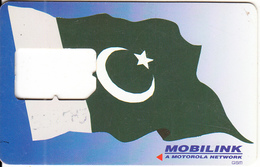 PAKISTAN - Flag, Mobilink GSM, Used - Pakistan