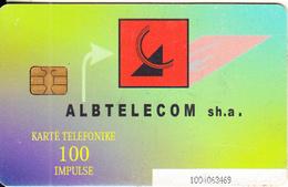 ALBANIA - Telecom Logo, Albtelecom Telecard 100 Units, 11/03, Used - Albanië