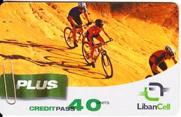LEBANON - Cycling, Liban Cell Prepaid Card 40 Units, Exp.date 21/04/06, Used - Liban