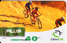 LEBANON - Cycling, Liban Cell Prepaid Card 40 Units, Exp.date 20/12/05, Used - Liban