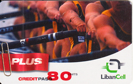 LEBANON - Rowing, Liban Cell Prepaid Card 80 Units, Exp.date 06/11/05, Used - Liban
