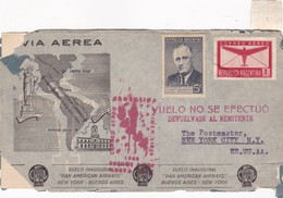 VIA AEREA VUELO INAGURAL PAN AMERICAN AIRWAYS NEW YORK BUENOS AIRES YEAR 1944 - BLEUP - Poste Aérienne