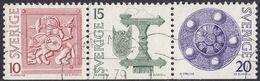 SVERIGE - SVEZIA - 1975 - Tre Valori Usati Uniti Fra Loro: Yvert 873/875, Come Da Immagine. - Svezia
