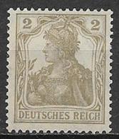GERMANIA REICH IMPERO 1916 -20  ALLEGORIA SU FONDO BIANCO UNIF. 96 MLH VF - Nuovi