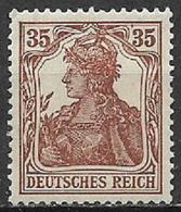 GERMANIA REICH IMPERO 1916 -20  ALLEGORIA SU FONDO BIANCO UNIF. 102 MLH VF - Nuovi