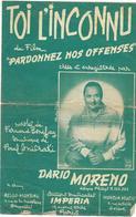 Toi, L'inconnu - Dario Moreno  (p : Fernand Bonifay ;  M :Paul Misraki), 1956 - Non Classés