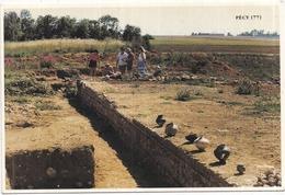 """77 PÉCY - Site Archéologique Du Chauffour (La """"RIOBÉ"""" De La Table De PEUTINGER) - 2 Scans - Frankrijk"""