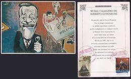 Argentina - 2005 - Tango - Reproduction - Peinture Murale De Rue Du Célèbre Chanteur Roberto Goyeneche - Argentina