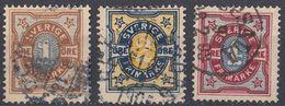 SVERIGE - SVEZIA - 1892 - Lotto Di 3 Valori Usati: Yvert 51, 52 E 54, Come Da Immagine. - Svezia