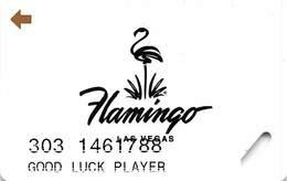 Flamingo Casino Las Vegas, NV - Slot Card - Bus Card With Gold Arrow - GOOD LUCK PLAYER - Casino Cards