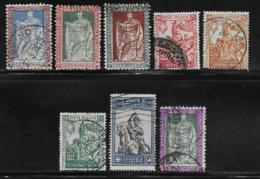 Italy Scott # 201-8  Used Philbert Part Set ,CV$223.25 - 1900-44 Vittorio Emanuele III