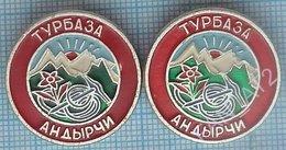USSR / Badges / Soviet Union / RUSSIA Alpinism. Mountaineering. Tourism. Turbaza Andyrchi. Kabardino-Balkaria. Edelweiss - Alpinism, Mountaineering