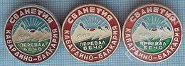USSR / Badges / Soviet Union / RUSSIA Alpinism Mountaineering Tourism Pass Becho. Svaneti. Caucasus. Kabardino-Balkaria - Alpinismus, Bergsteigen