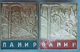 USSR / Badges / Soviet Union / Tajikistan Alpinism Mountaineering Tourism Pamir Mountains. - Alpinismus, Bergsteigen