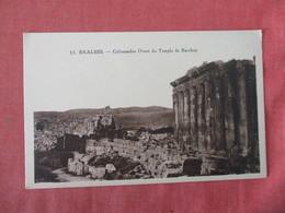 Baalbek  Temple De Bacchus  Ref 3420 - Syria
