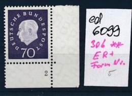 BRD Nr. 306 **ER Form Nummer    (ed6099 ) Siehe Scan - [7] Repubblica Federale