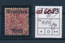 D.-Reich Nr. D 58 III Geprüft  O ......  (ed6083  ) Siehe Scan - Gebraucht