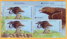 2019 Moldova Moldavie H-blatt  Europa - Cept  Fauna, Birds, Eagles - Arends & Roofvogels
