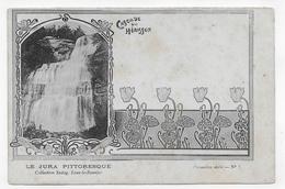 (RECTO / VERSO) CASCADE DU HERISSON - N° 5 - Collection SADAG A LONS LE SAUNIER - CPA PRECURSEUR NON VOYAGEE - France