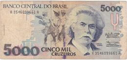 Brésil - Billet De 5000 Cruzeiros - Carlos Gomes - Non Daté - Brasilien
